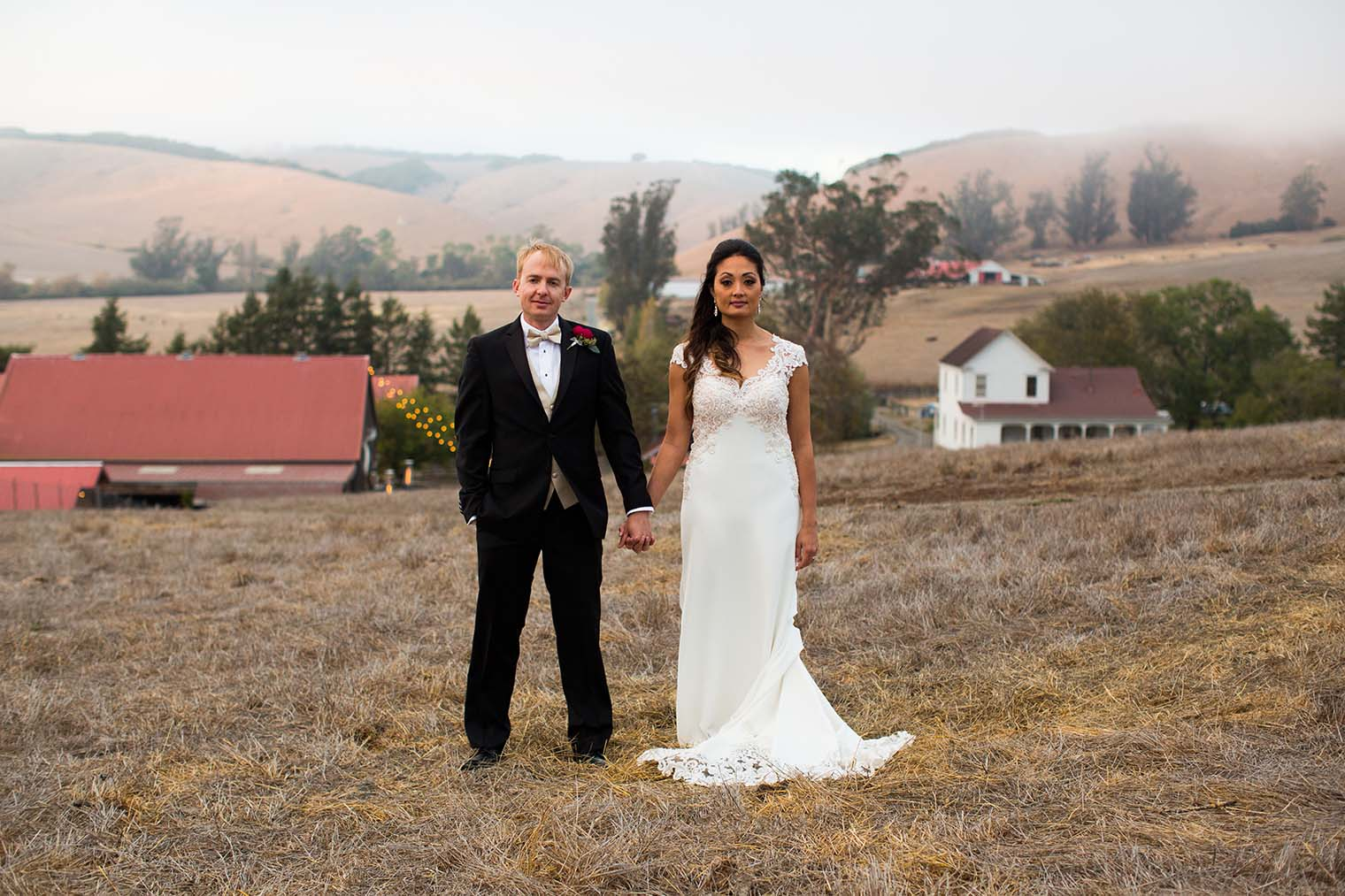 Sunset Couple Photos at Olympia's Valley Estate Wedding
