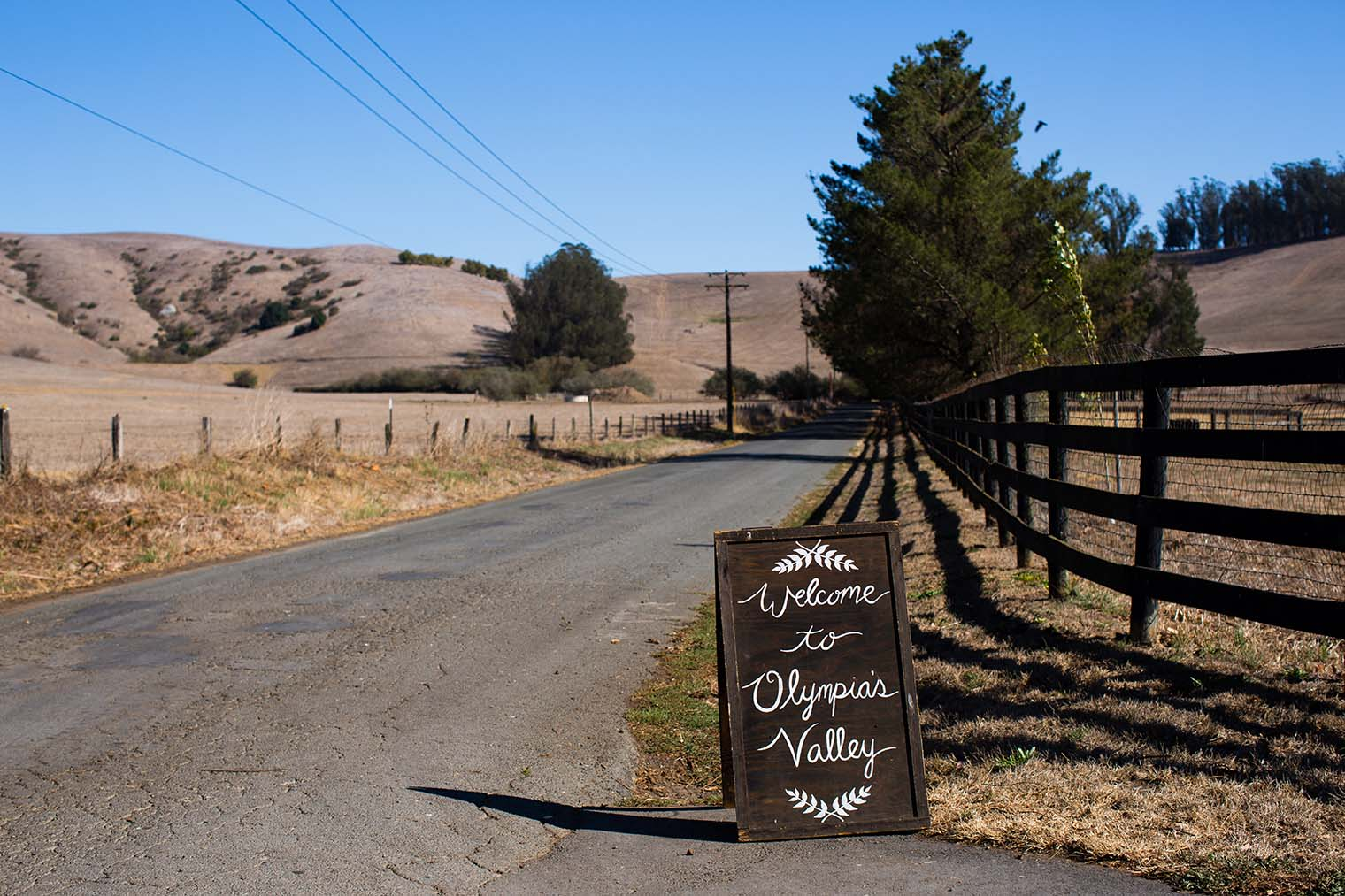Olympia's Valley Estate Wedding Welcome Sign