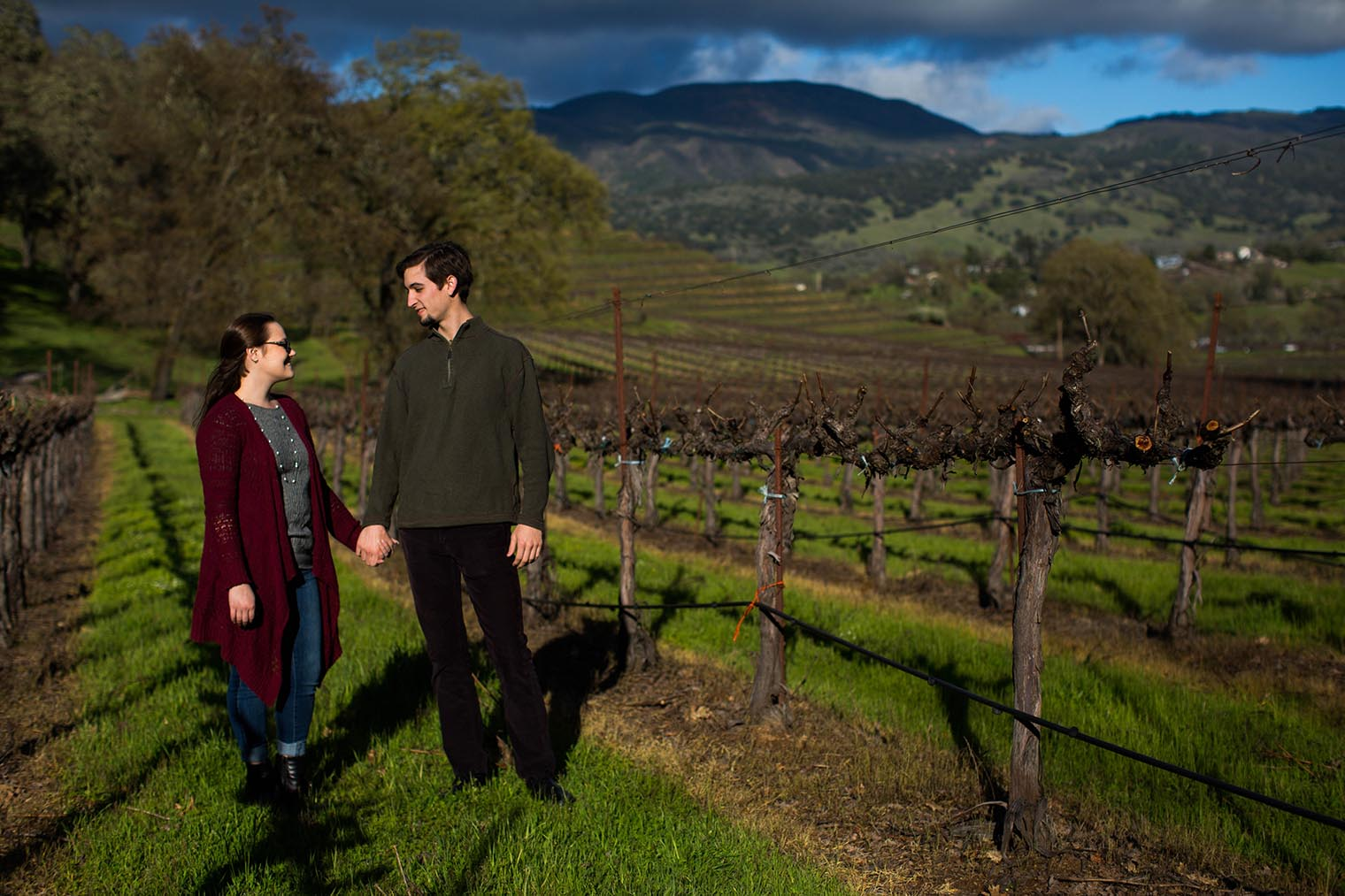 Nelson Family Vineyards Engagement Session