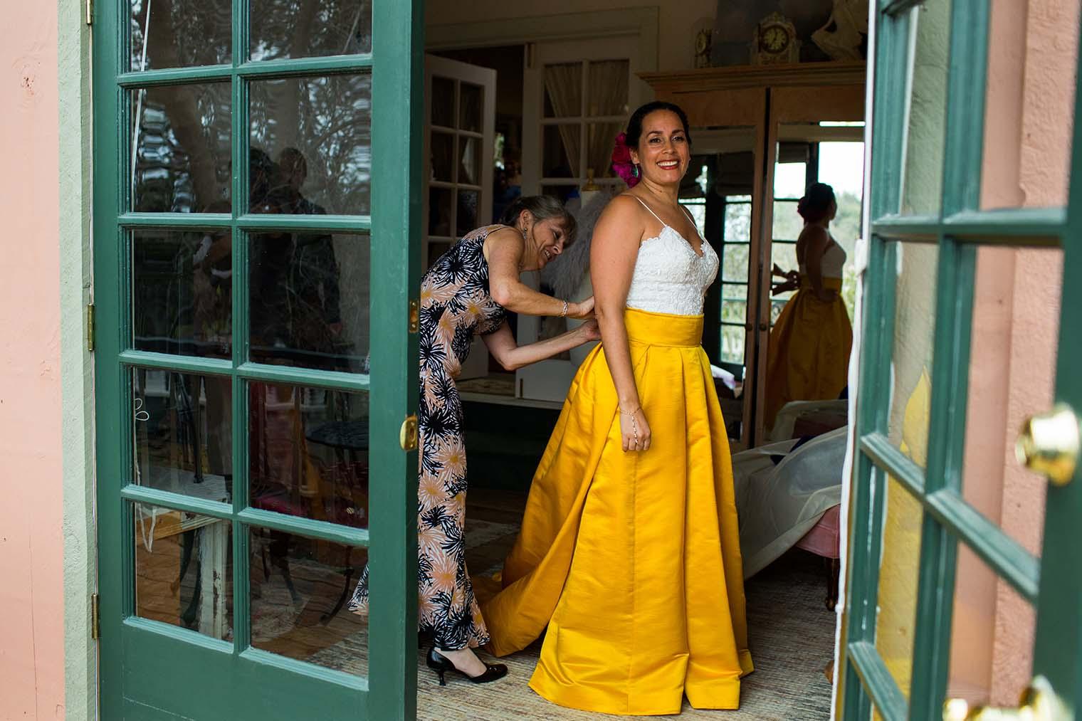 Bride at Union Hill Inn in Sonora, CA