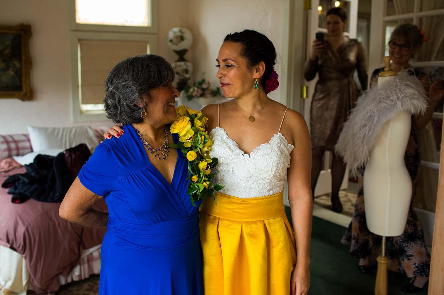 Bride at Union Hill Inn in Sonora