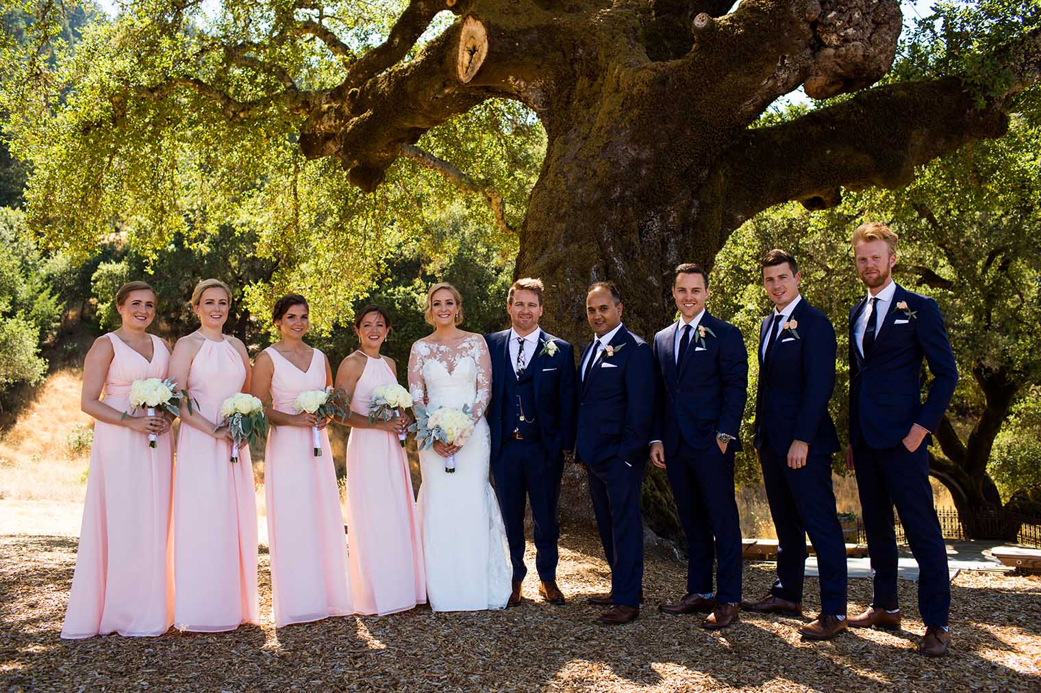 Mountain House Estate Wedding Bridal Party