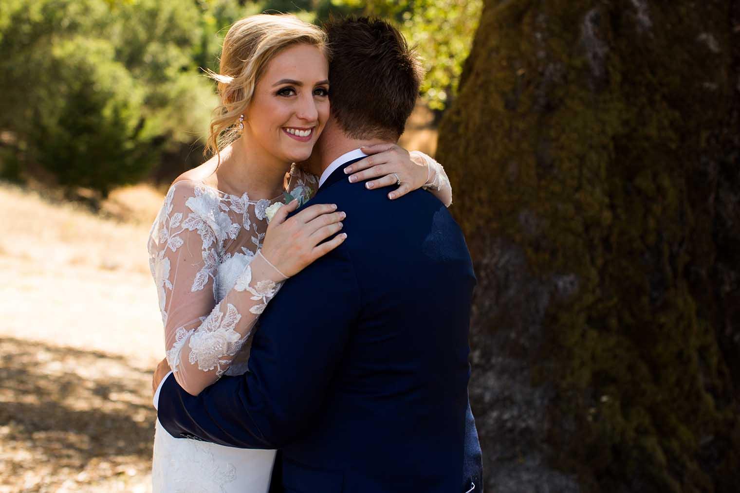 Mountain House Estate Wedding Bride and Groom Portraits