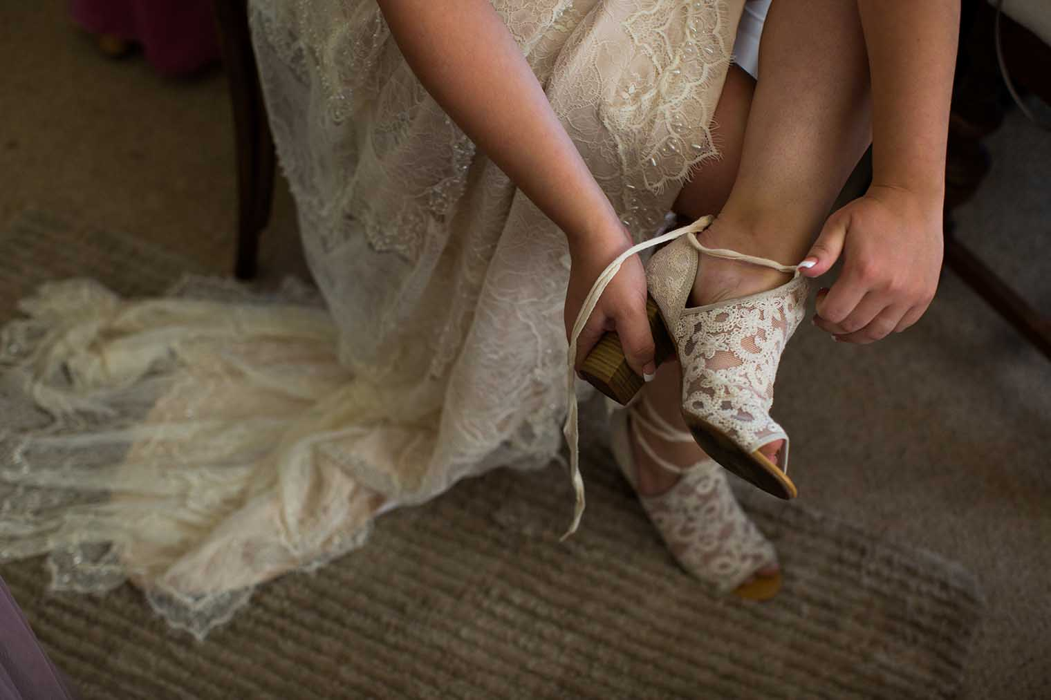 Bride Getting Ready at Nelson Family Vineyards