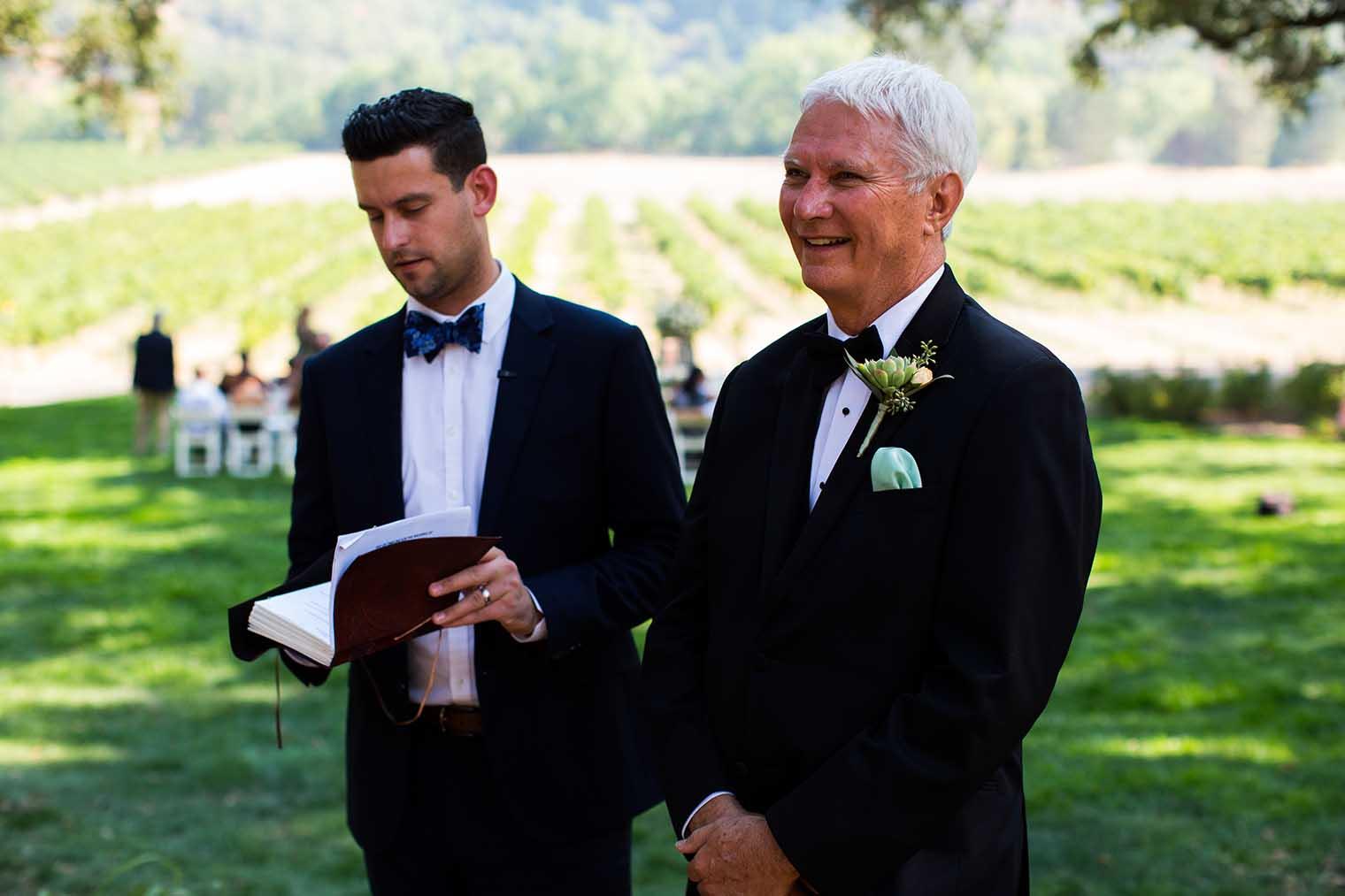 Nelson Family Vineyards Wedding Ceremony