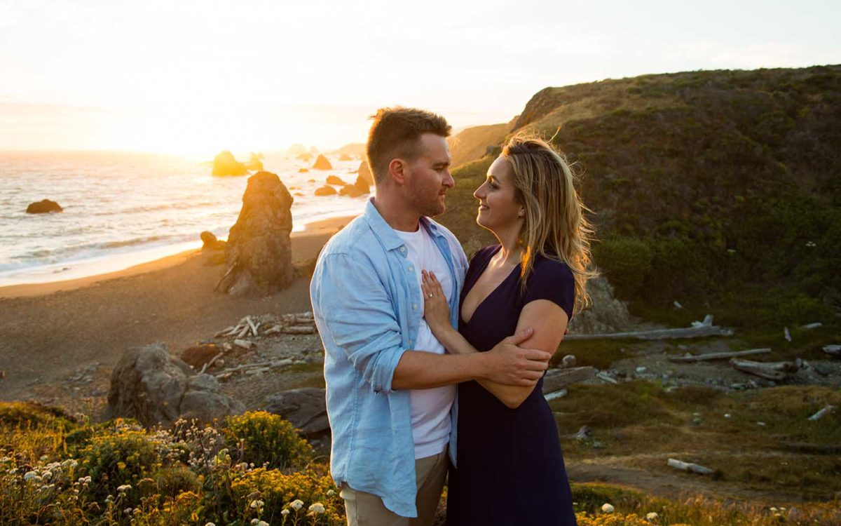 Engagement Photos at Sonoma Coast State Park