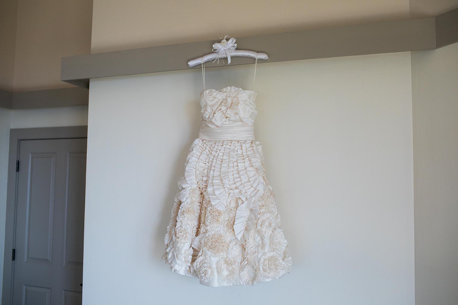 wedding dress at heritage house resort