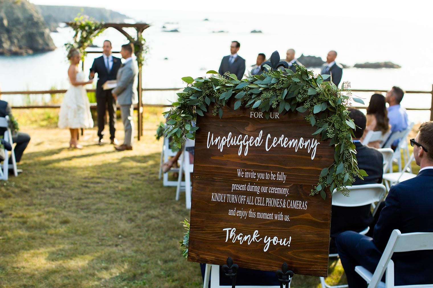 unplugged ceremony at heritage house resort