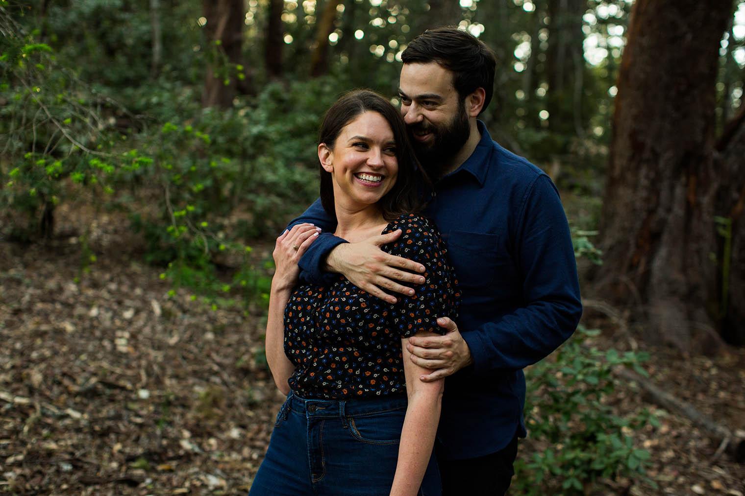 Engagement photos at Mount Tamalpais